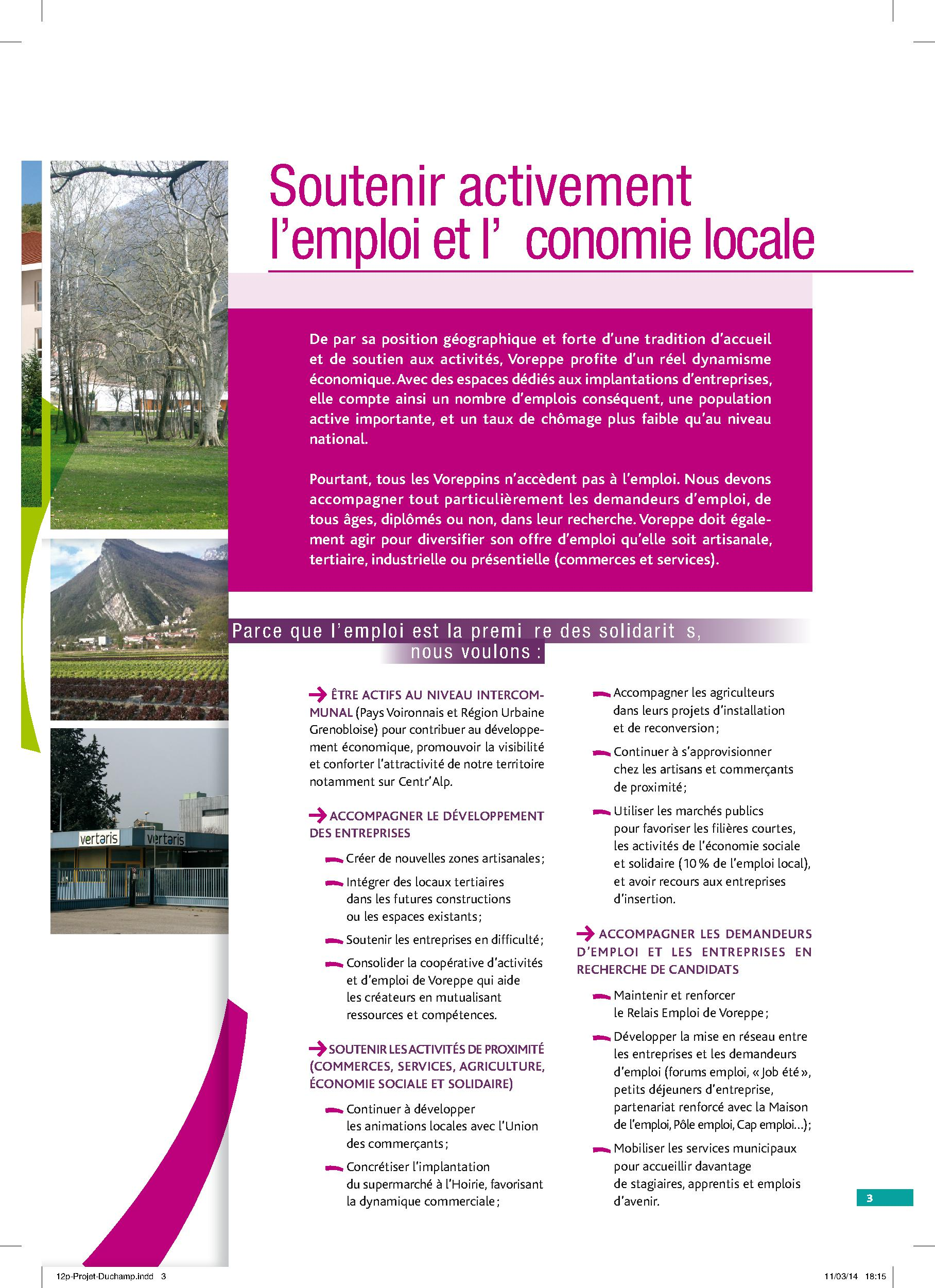 Projet Voreppe Avenir p.3